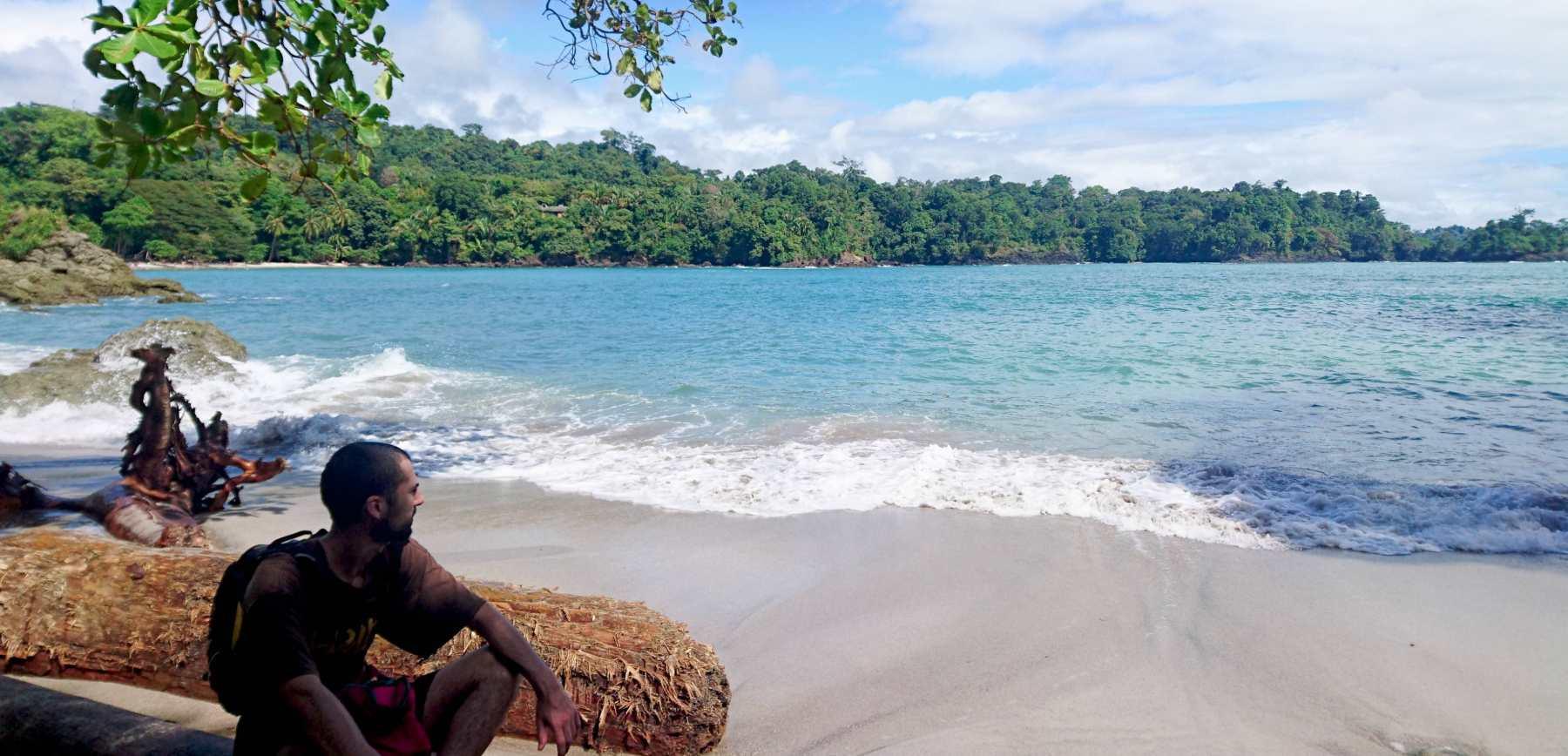 Nomadadeviaje posando en árbol en la playa de Manuel Antonio