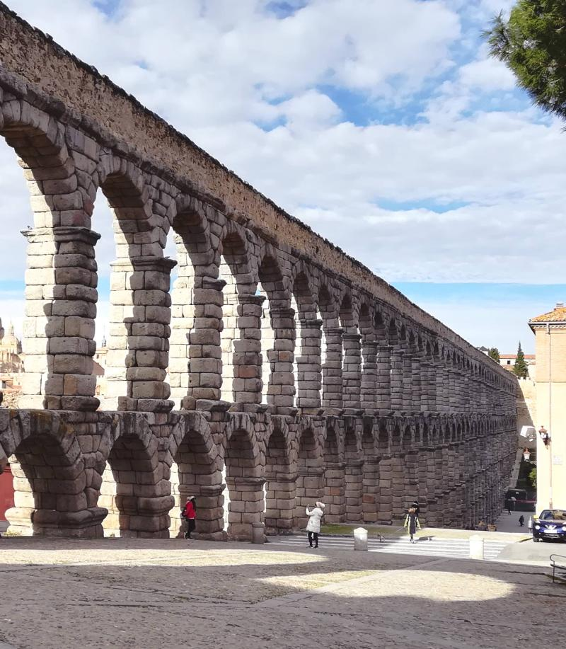 Lateral acueducto de Segovia