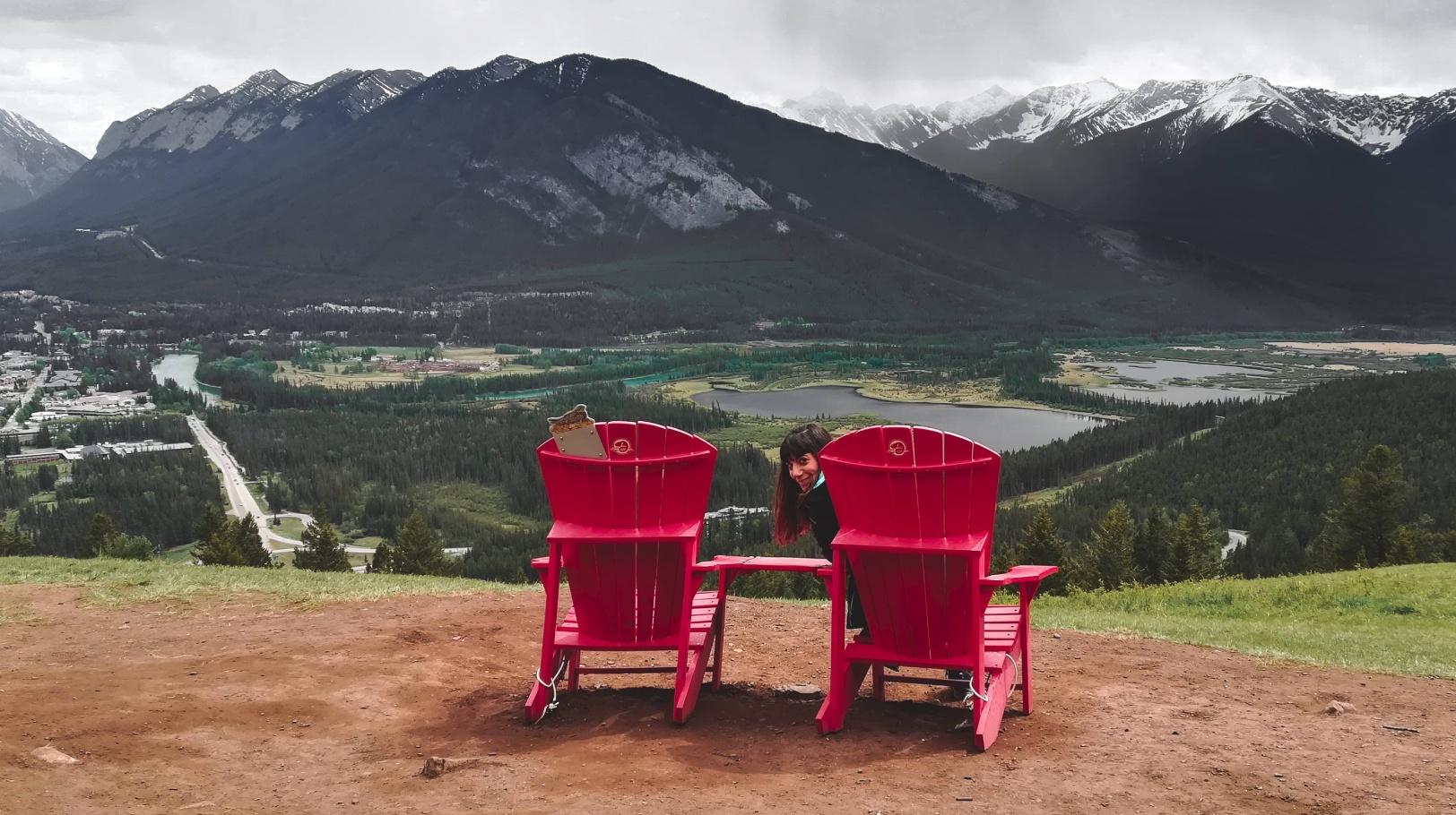Mapa de las sillas rojas o Red Chair - Rocosas Canadienses