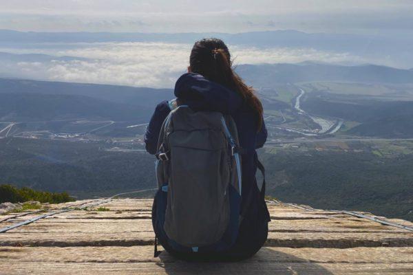 Pico Arangoiti desde el Monasterio de Leyre